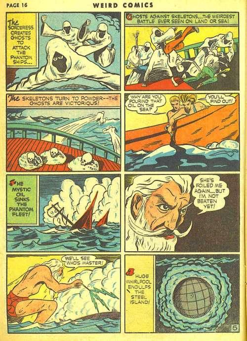 Weird Comics #10, January 1941